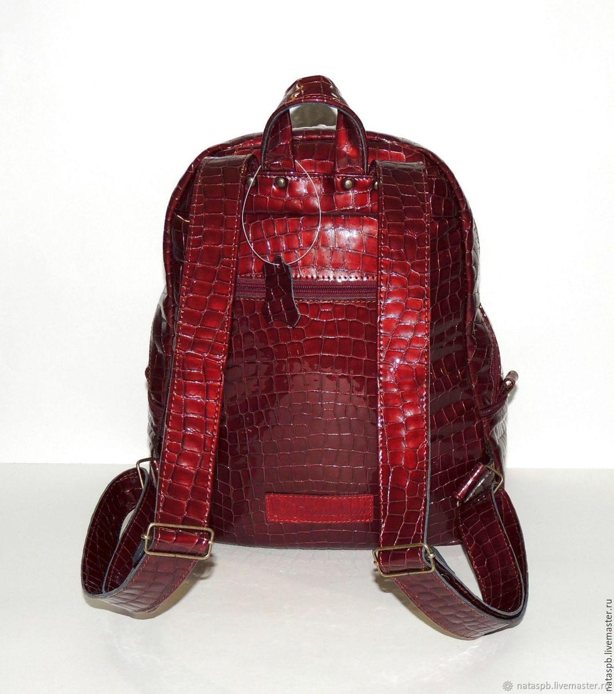 b3d2d176f683 Online shopping Backpacks handmade. Order Burgundy women s leather backpack   Beaujolais . Natalia Kalinovskaya. Livemaster Backpacks handmade.
