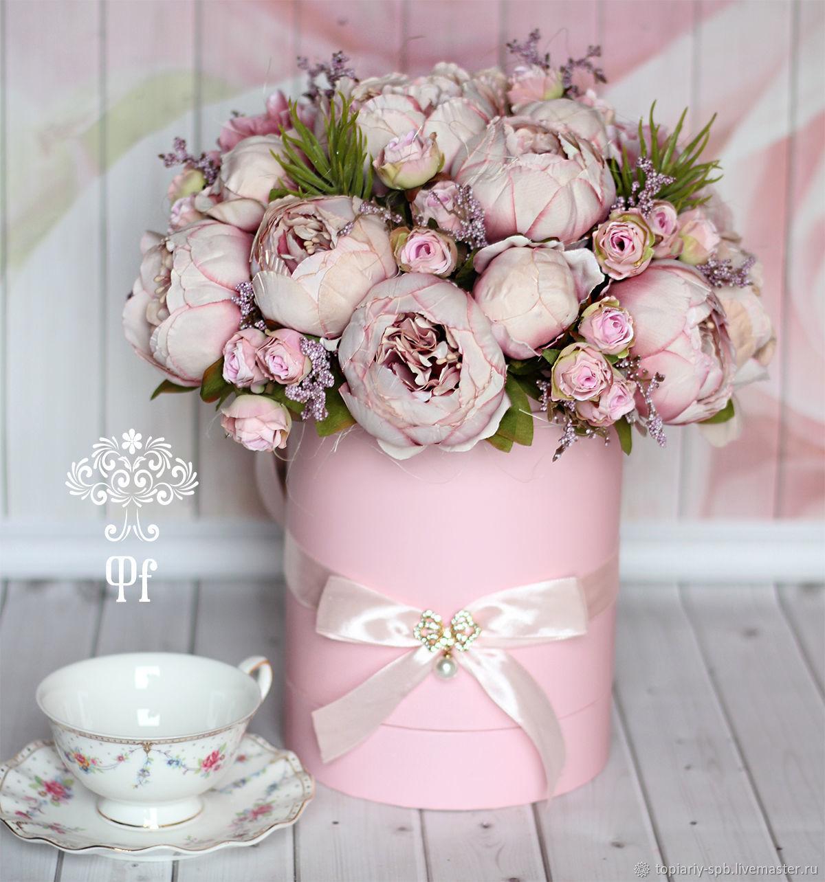 Цветы в коробке петербург