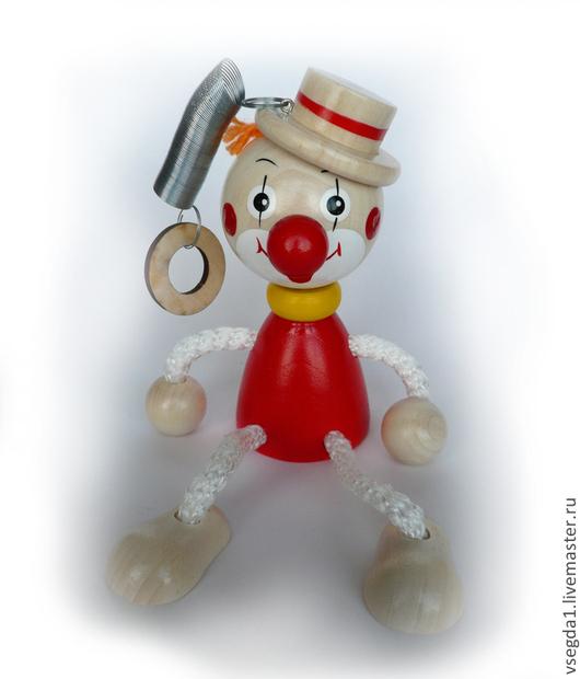 """Человечки ручной работы. Ярмарка Мастеров - ручная работа. Купить Игрушка """"Клоун в шляпе"""" на пружинке жёлтый. Handmade. Игрушка для детей"""