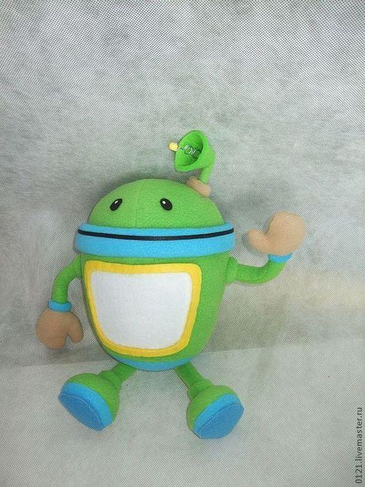 """Человечки ручной работы. Ярмарка Мастеров - ручная работа. Купить Робот из мультф. """"Умми-Зумми"""" игрушка по рисунку. Handmade."""