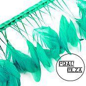 Перья петуха на ножках Св.зеленые
