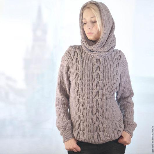 """Кофты и свитера ручной работы. Ярмарка Мастеров - ручная работа. Купить Вязаный свитер """"На Темзе туман"""". Handmade."""