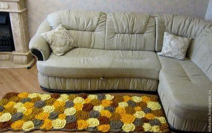 """Текстиль, ковры ручной работы. Ярмарка Мастеров - ручная работа Коврик вязаный """"Цветущая клумба"""". Handmade."""