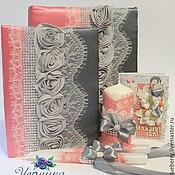 Свадебный салон ручной работы. Ярмарка Мастеров - ручная работа Свадебные аксессуары в сером и коралловом цвете. Handmade.