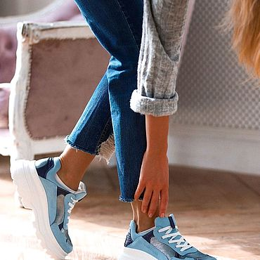 Обувь ручной работы. Ярмарка Мастеров - ручная работа -10% на Кроссовки из натуральной кожи ручной работы!. Handmade.