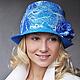 """Шляпы ручной работы. Ярмарка Мастеров - ручная работа. Купить Шляпа """"Helena"""".. Handmade. Шапка, абстрактный, прибалтика, морской, зима"""