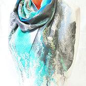 """Аксессуары ручной работы. Ярмарка Мастеров - ручная работа Валяный шарф-паутинка"""" Перед грозой"""". Handmade."""