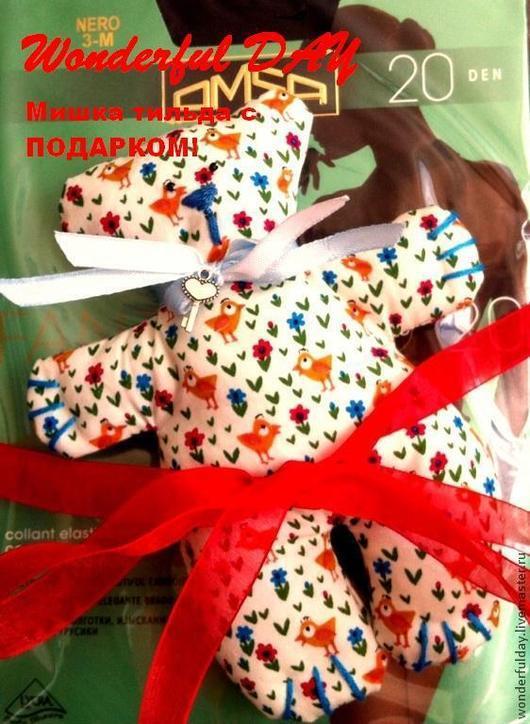 """Куклы Тильды ручной работы. Ярмарка Мастеров - ручная работа. Купить Мишка - Тильда """"Весенний"""". Handmade. Разноцветный, мишка, тильда"""