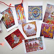 Открытки handmade. Livemaster - original item Author`s collection postcard