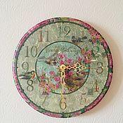 Часы ручной работы. Ярмарка Мастеров - ручная работа Соловей и роза. Handmade.