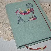 Канцелярские товары handmade. Livemaster - original item A notebook hand embroidery. Handmade.