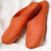 """Обувь ручной работы. Ярмарка Мастеров - ручная работа Тапочки """"Рыжие"""". Handmade."""