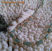 Украшения handmade. Livemaster - original item Green Aventurine necklace in Wire Wrap technique. Handmade.