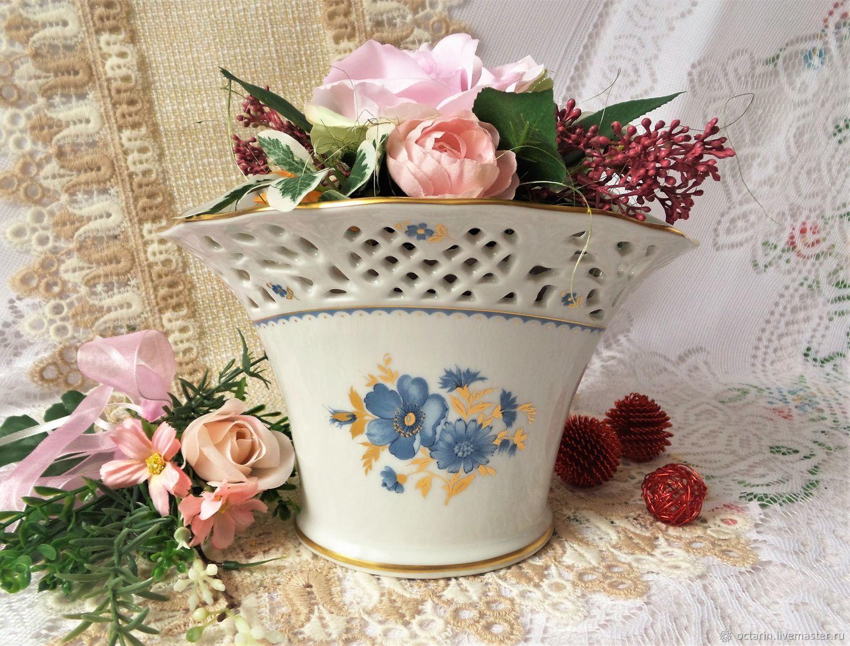 Винтаж: Ваза ажурная, ваза для конфет, ваза для цветов, Schumann Arzberg, Винтажные предметы интерьера, Байройт, Фото №1
