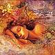 """Вышивка ручной работы. Ярмарка Мастеров - ручная работа. Купить Алмазная мозаика """"Спящая красавица"""" Дж.Уолл. Набор для творчества. Handmade."""