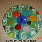 """Для дома и интерьера ручной работы. Ярмарка Мастеров - ручная работа Часы """" Цветная арифметика"""". Handmade."""