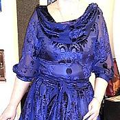 Одежда ручной работы. Ярмарка Мастеров - ручная работа Violet Шелковое платье из бархата на шифоне. Handmade.