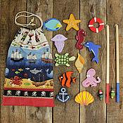 Куклы и игрушки ручной работы. Ярмарка Мастеров - ручная работа Морская рыбалка в мешочке. Handmade.