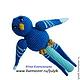 """Развивающие игрушки ручной работы. """"Синяя птица"""" погремушка. Юлия Кандалинцева. Интернет-магазин Ярмарка Мастеров. Игрушка, игрушка для малышей"""
