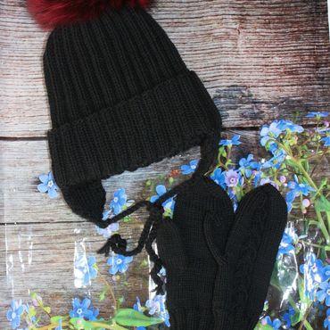 Works for children handmade. Livemaster - original item Knitted winter set for kids. Handmade.