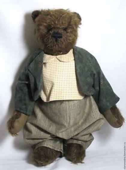 "Винтажные куклы и игрушки. ""Денди"" мишка тедди в костюме, винтаж. Старо-Модно. Ярмарка Мастеров. Мишки тедди"
