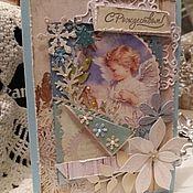 Открытки ручной работы. Ярмарка Мастеров - ручная работа Открытки: Ангел. Handmade.