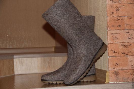 Обувь ручной работы. Ярмарка Мастеров - ручная работа. Купить Сапоги женские валяные  Мокко. Handmade. Бежевый, ярмарка мастеров