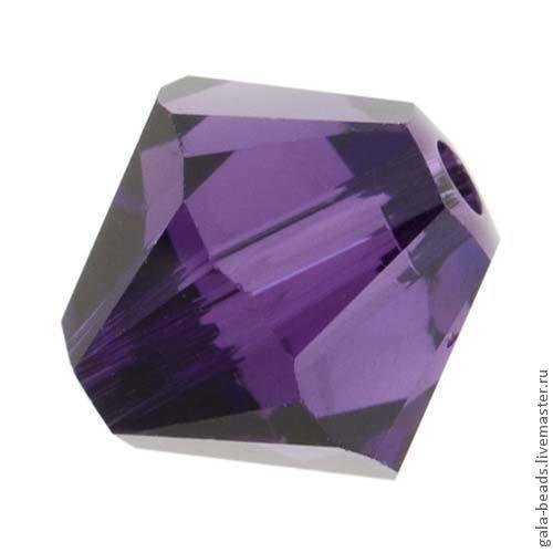Для украшений ручной работы. Ярмарка Мастеров - ручная работа. Купить Биконусы Swarovski Purple Velvet ( 4, 5, 6 мм) 10 шт. Handmade.