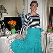 Одежда ручной работы. Ярмарка Мастеров - ручная работа Женская юбка Бирюза. Handmade.