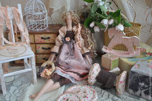 """Куклы Тильды ручной работы. Ярмарка Мастеров - ручная работа. Купить Кукла в стиле Тильда """"Сады цветут"""". Handmade. Кремовый"""