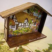 """Для дома и интерьера ручной работы. Ярмарка Мастеров - ручная работа Ключница """"Домик окнами в сад"""". Handmade."""
