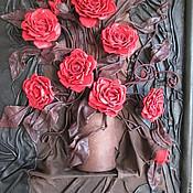 """Картины и панно ручной работы. Ярмарка Мастеров - ручная работа Авторская работа Картина """"розы"""". Handmade."""
