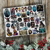 Материалы для творчества handmade. Livemaster - original item Stickers stickers