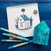 Сувениры и подарки ручной работы. Ярмарка Мастеров - ручная работа Фотофон ярко-синий в стиле рустик. Handmade.