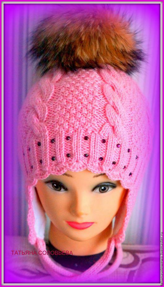 Одежда для девочек, ручной работы. Ярмарка Мастеров - ручная работа. Купить Зимняя шапочка для девочки.. Handmade. Зима 2015, тепло