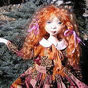 Куклы и игрушки ручной работы. Ярмарка Мастеров - ручная работа Подвижная куколка из папье маше Анюта.... Handmade.