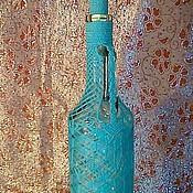 """Для дома и интерьера ручной работы. Ярмарка Мастеров - ручная работа Бутылка """"Голубая мечта"""". Handmade."""