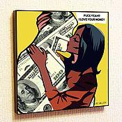 Картины и панно handmade. Livemaster - original item Painting Poster Pop Art Money. Handmade.
