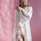 Свадебный салон handmade. Livemaster - original item Kimono with lace. Handmade.