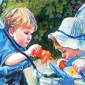 """Картины и панно ручной работы. Ярмарка Мастеров - ручная работа Картина """"Портрет детей"""". Handmade."""