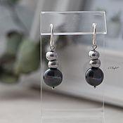 Украшения handmade. Livemaster - original item Silver-plated earrings with major pearls