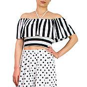 Одежда handmade. Livemaster - original item Halter top, womens top viscose, top summer -