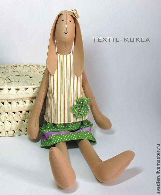Игрушки животные, ручной работы. Ярмарка Мастеров - ручная работа. Купить Зайка в полосатом(60см) - текстильная игрушка. Handmade. Зайцы, зайченок