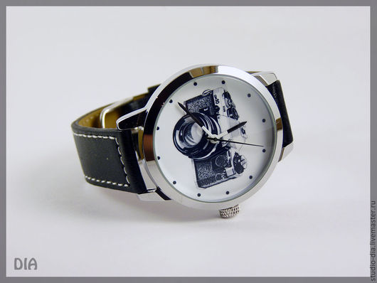 Часы. Наручные Часы. Оригинальные Дизайнерские Часы Фотоаппарат. Студия Дизайнерских Часов DIA.