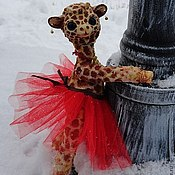 Куклы и игрушки ручной работы. Ярмарка Мастеров - ручная работа Мечтательница  Фло- жирафиха. Handmade.