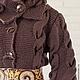 """Верхняя одежда ручной работы. Заказать Пальто """"Леопардовый какао"""". Елена Velena. Ярмарка Мастеров. Пальто вязаное, итальянские ткани"""