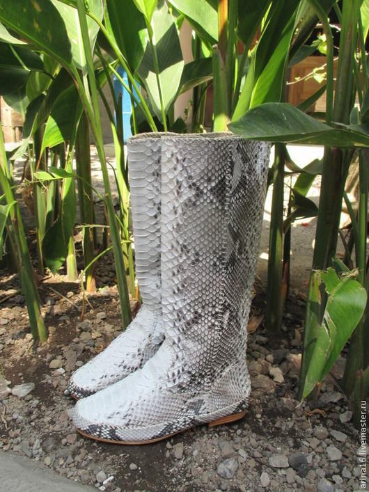 Обувь ручной работы. Ярмарка Мастеров - ручная работа. Купить сапоги Kreki2. Handmade. Серый, на низком каблуке