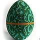 Сувенирное пасхальное яйцо `Малахит`