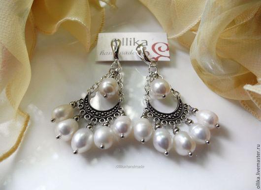 Фото Сasual pearls серьги Повседневный жемчуг 1280 руб., 6,3 см со швензой, швензы родированные серьги жемчужные,Серьги с жемчугом, Жемчужные серьги. Серьги с белым жемчугом, сережки жемчужные