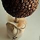 Топиарии ручной работы. Ярмарка Мастеров - ручная работа. Купить Кофейный топиарий в эко-стиле. Handmade. Коричневый, кофейный, кофе